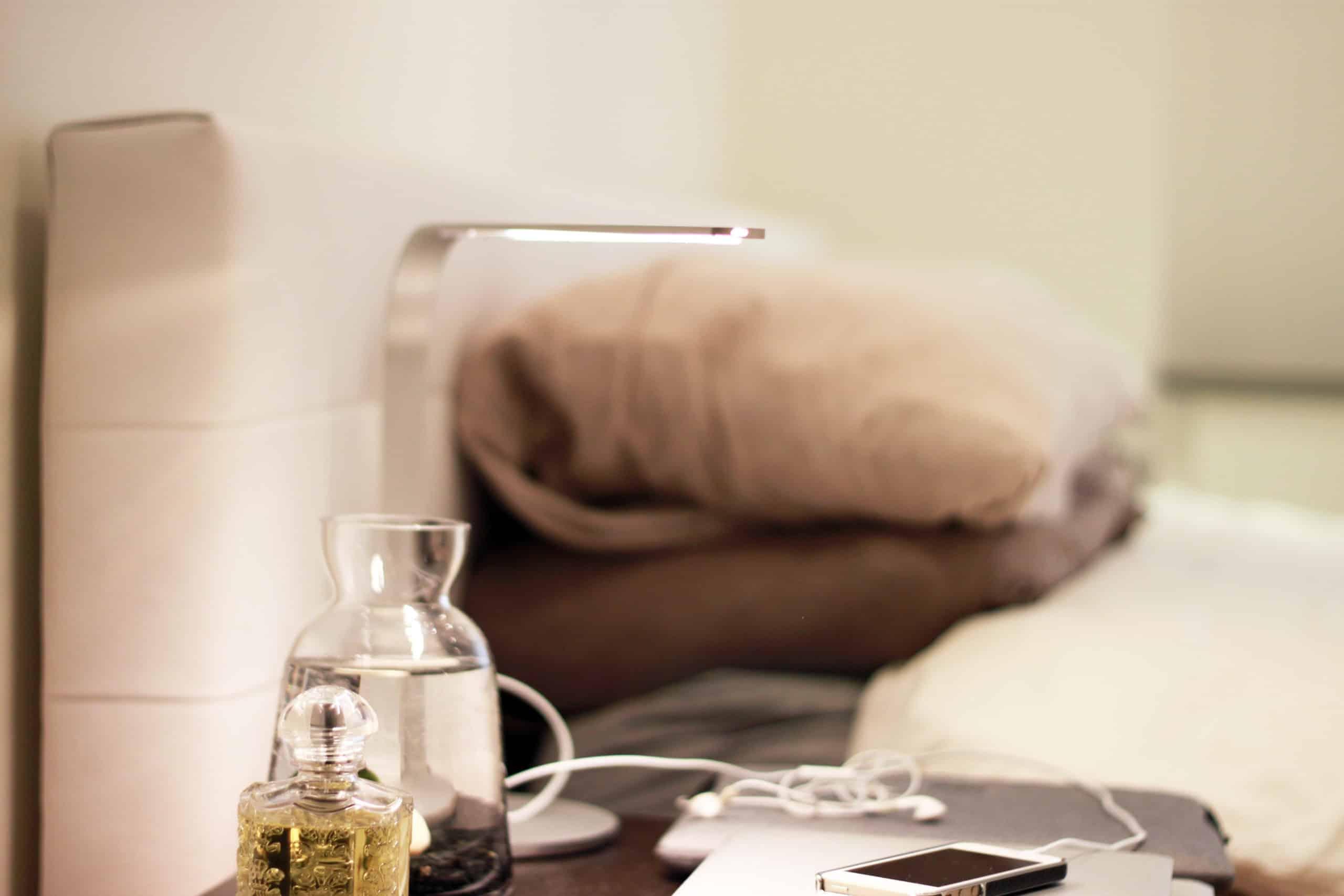 Interior design features in bedroom apartment Manhattan