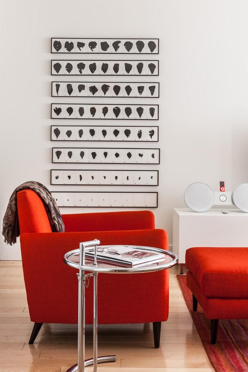 Design classics & art in apartment renovation, New York City