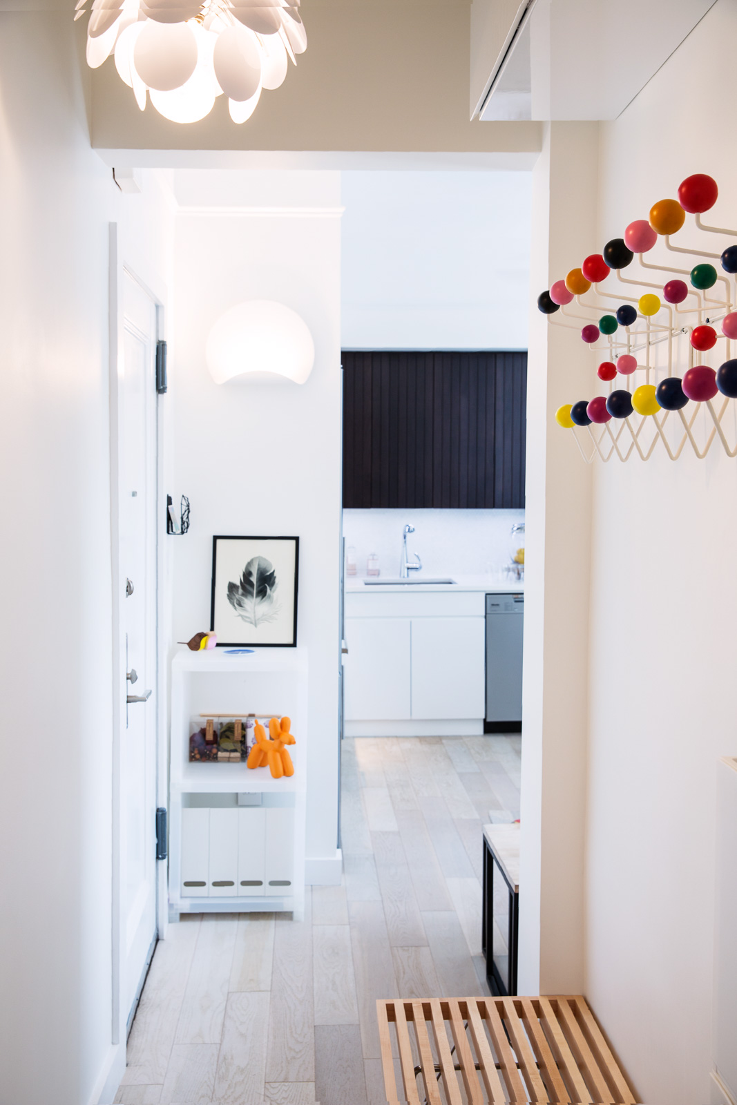 Compact kitchen design for New York City apartment