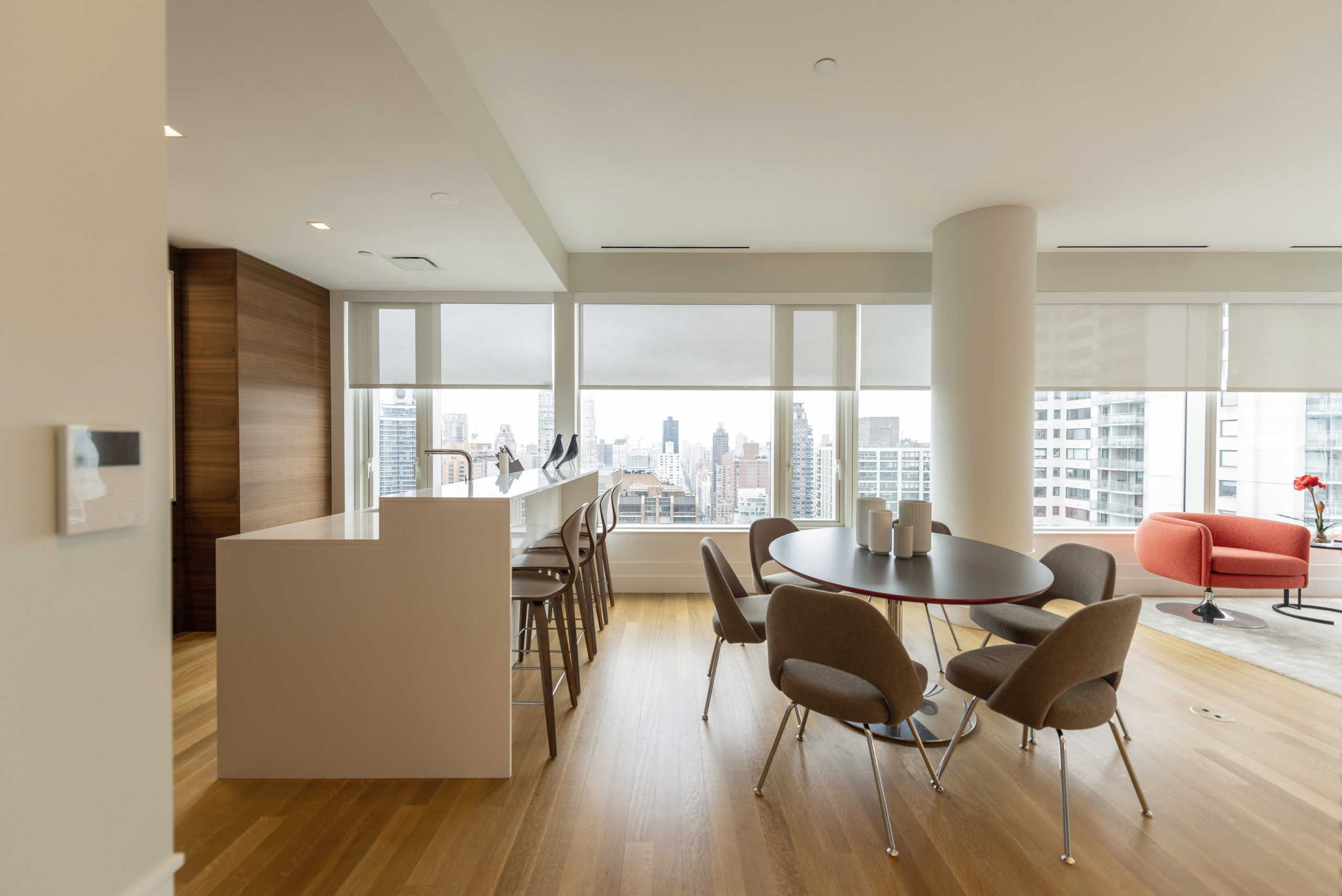 Designer living space in New York City by EXD Architecture