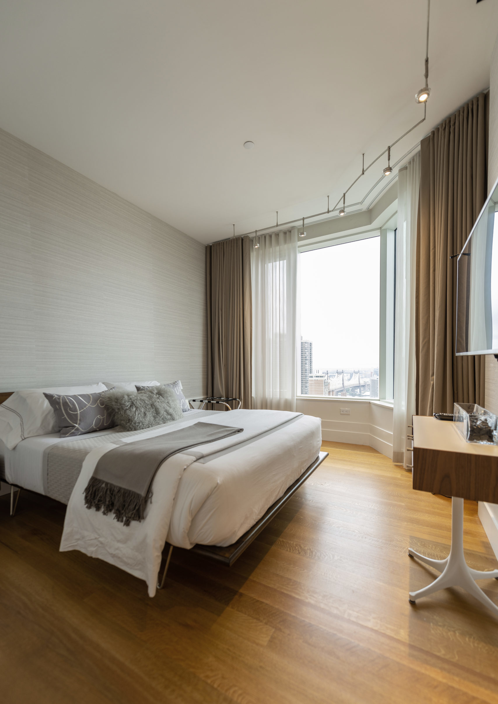Guest room design by EXD Architecture on Billionaire's row, New York City