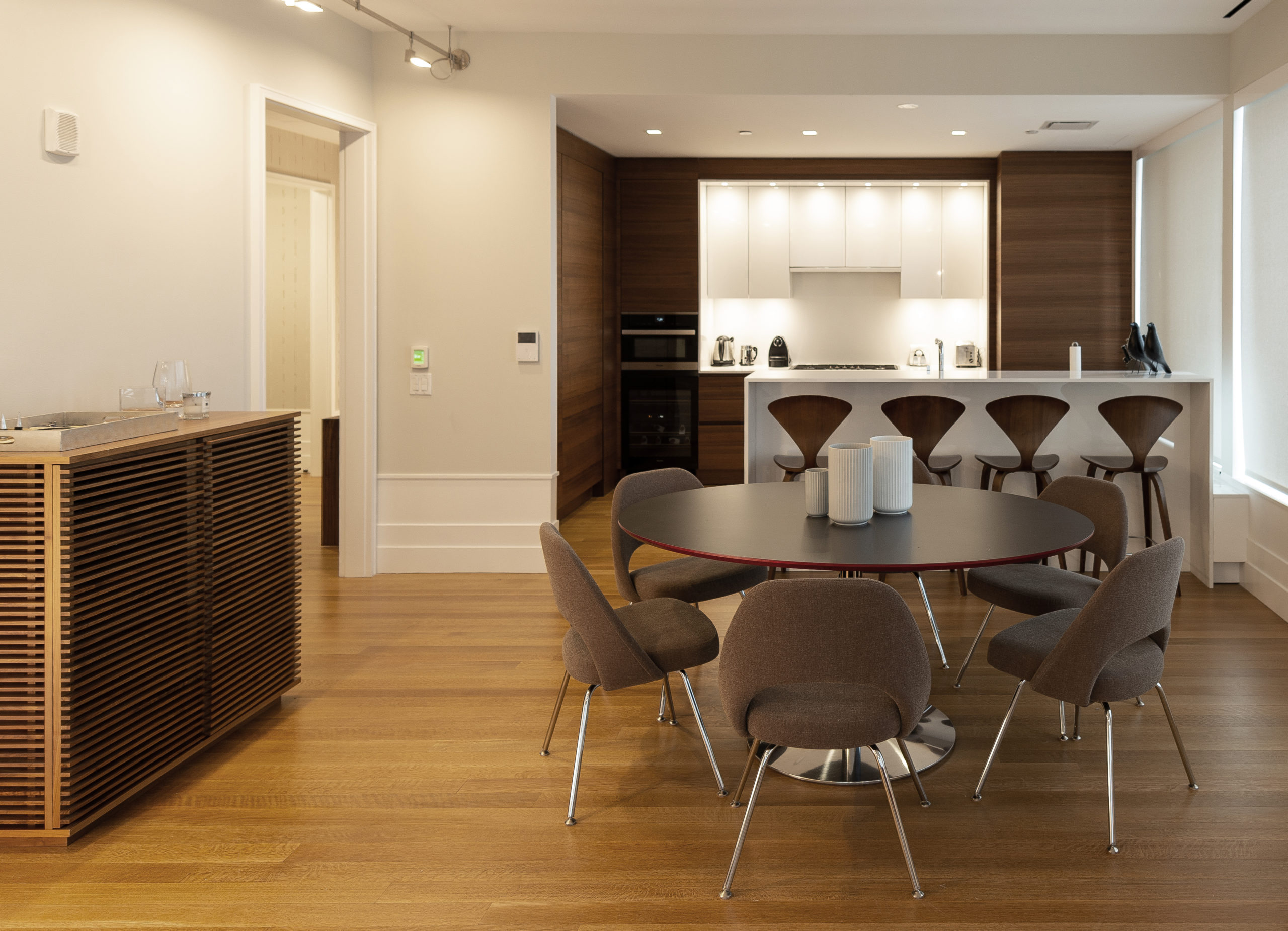 Luxury dining room and kitchen design in Billionaire's row, New York City