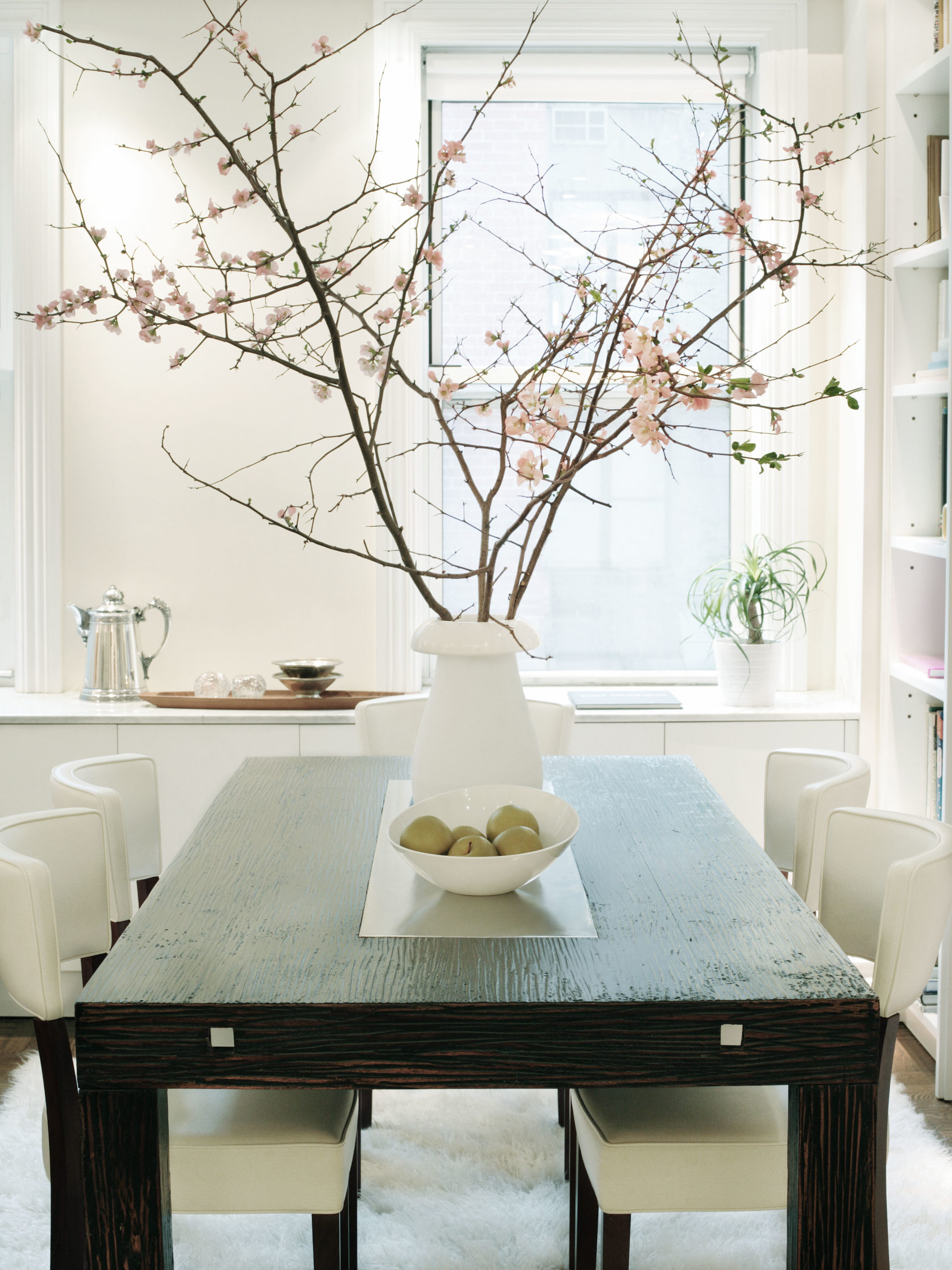 Dining room after apartment combination, New York City