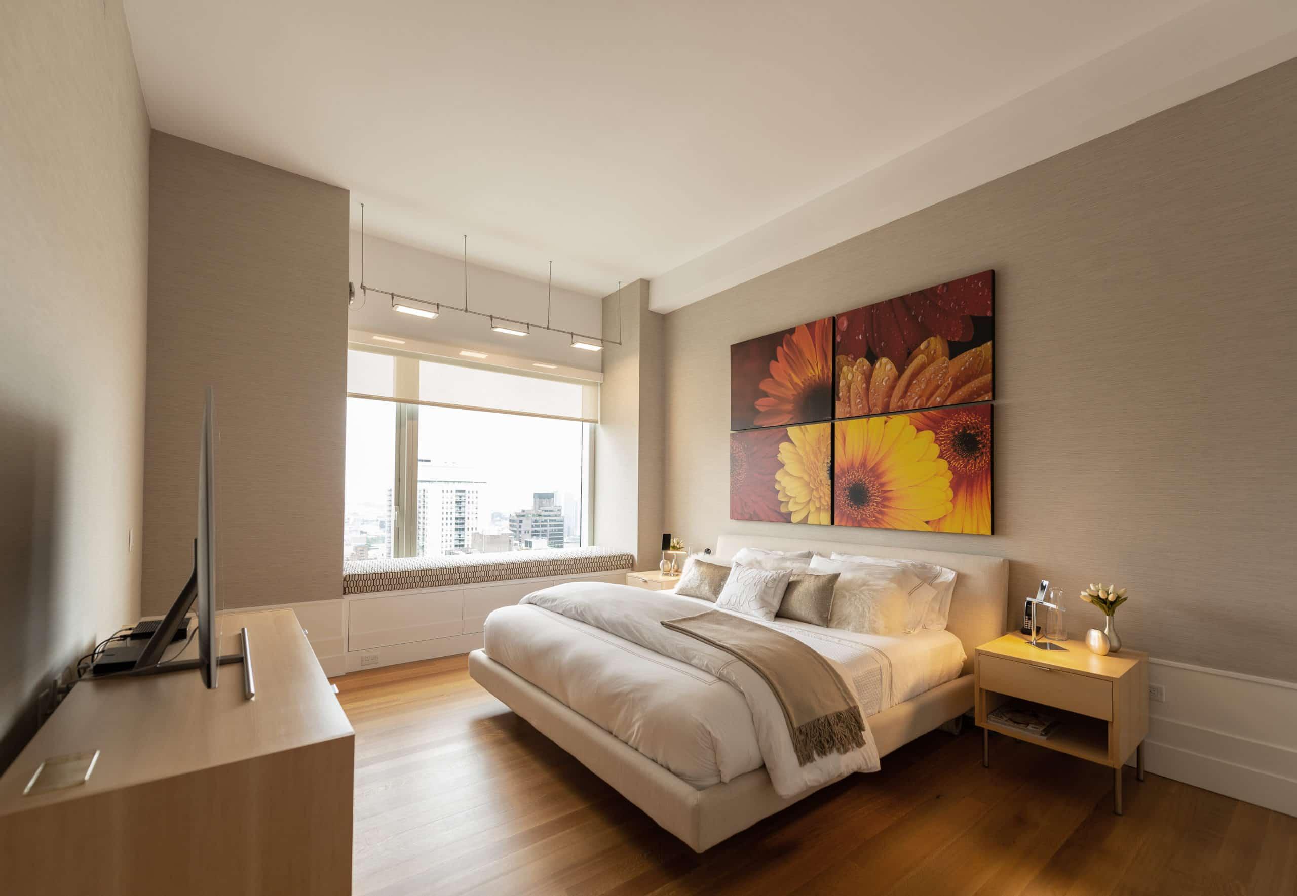 Luxury master bedroom interior design, New York City