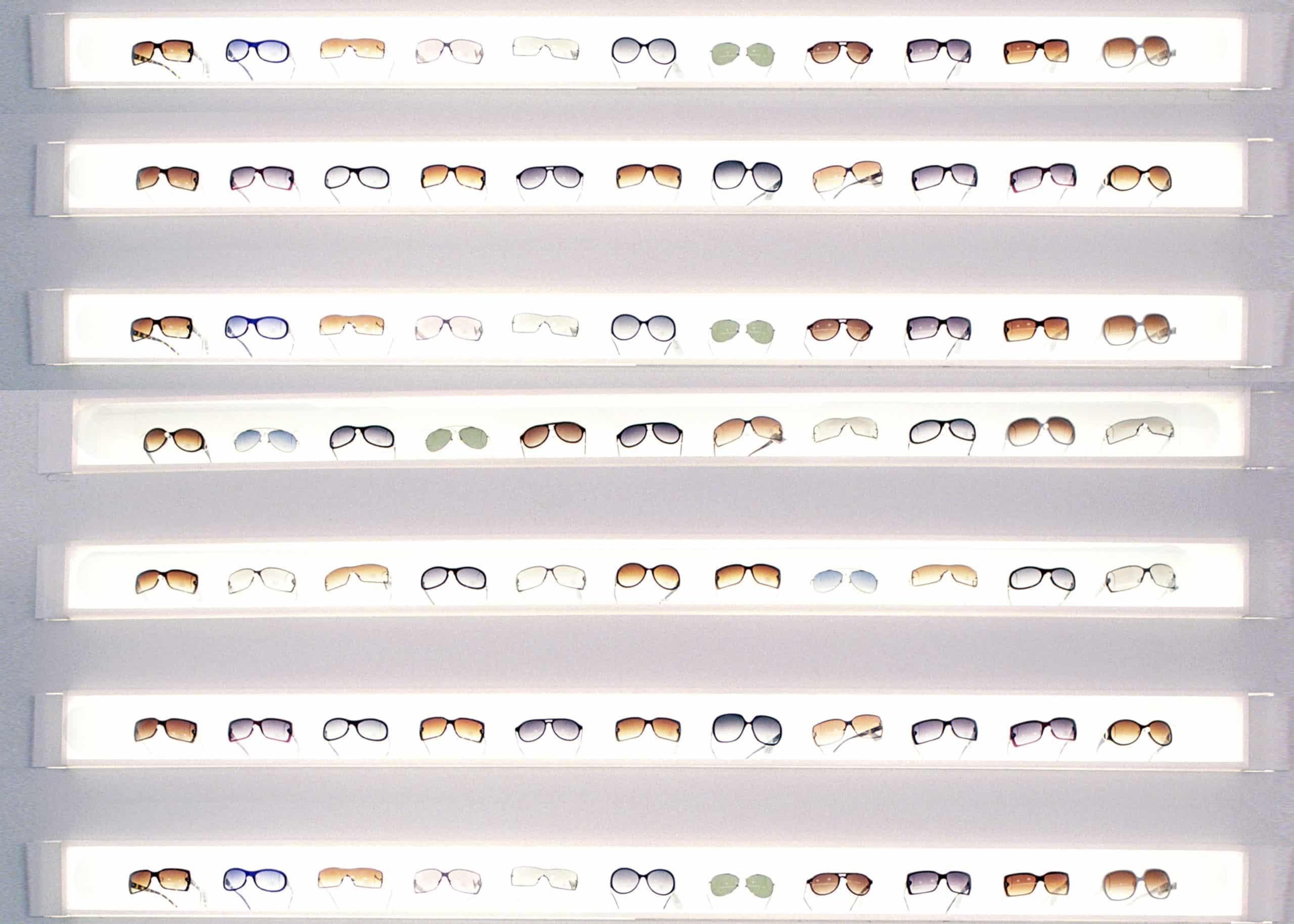 LED lighted shelving designed for the Steve Madden Boutique, Upper East Side, New York