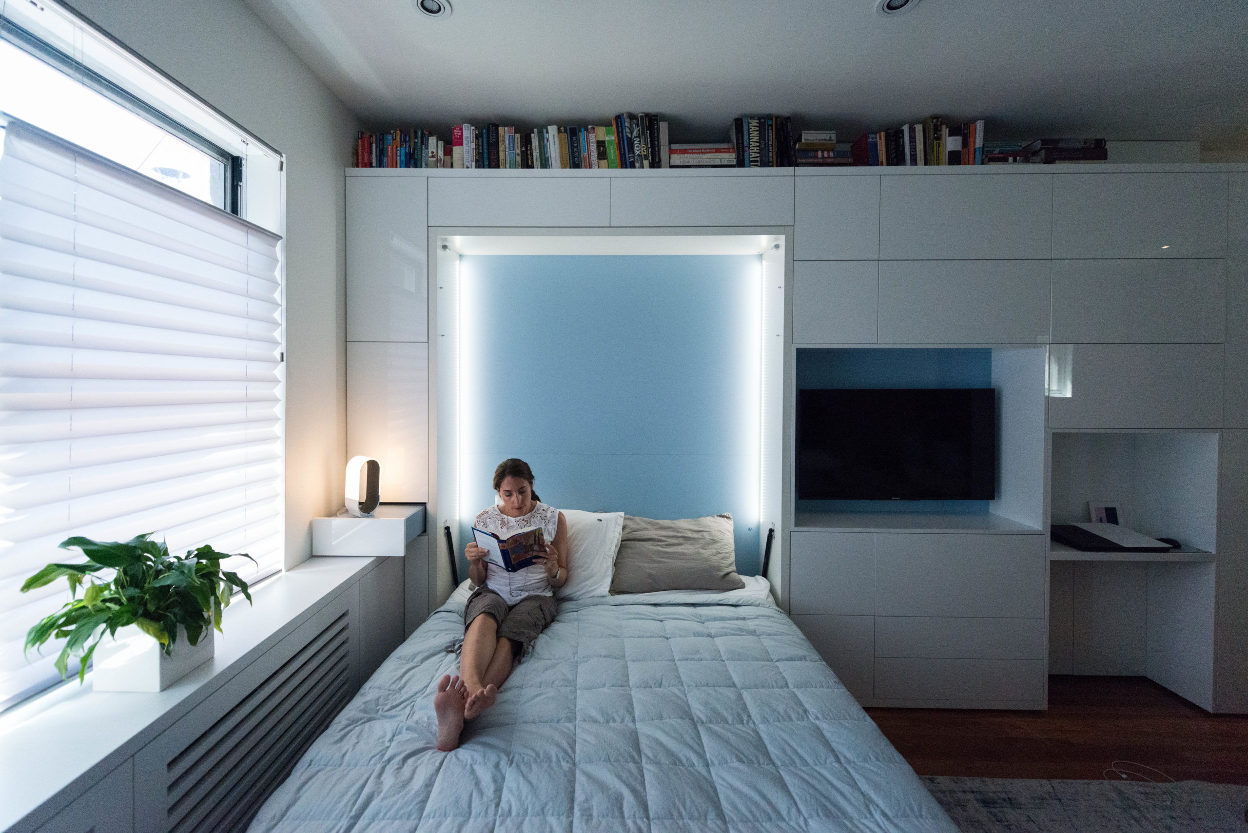 Fold down bed design for New York city apartment