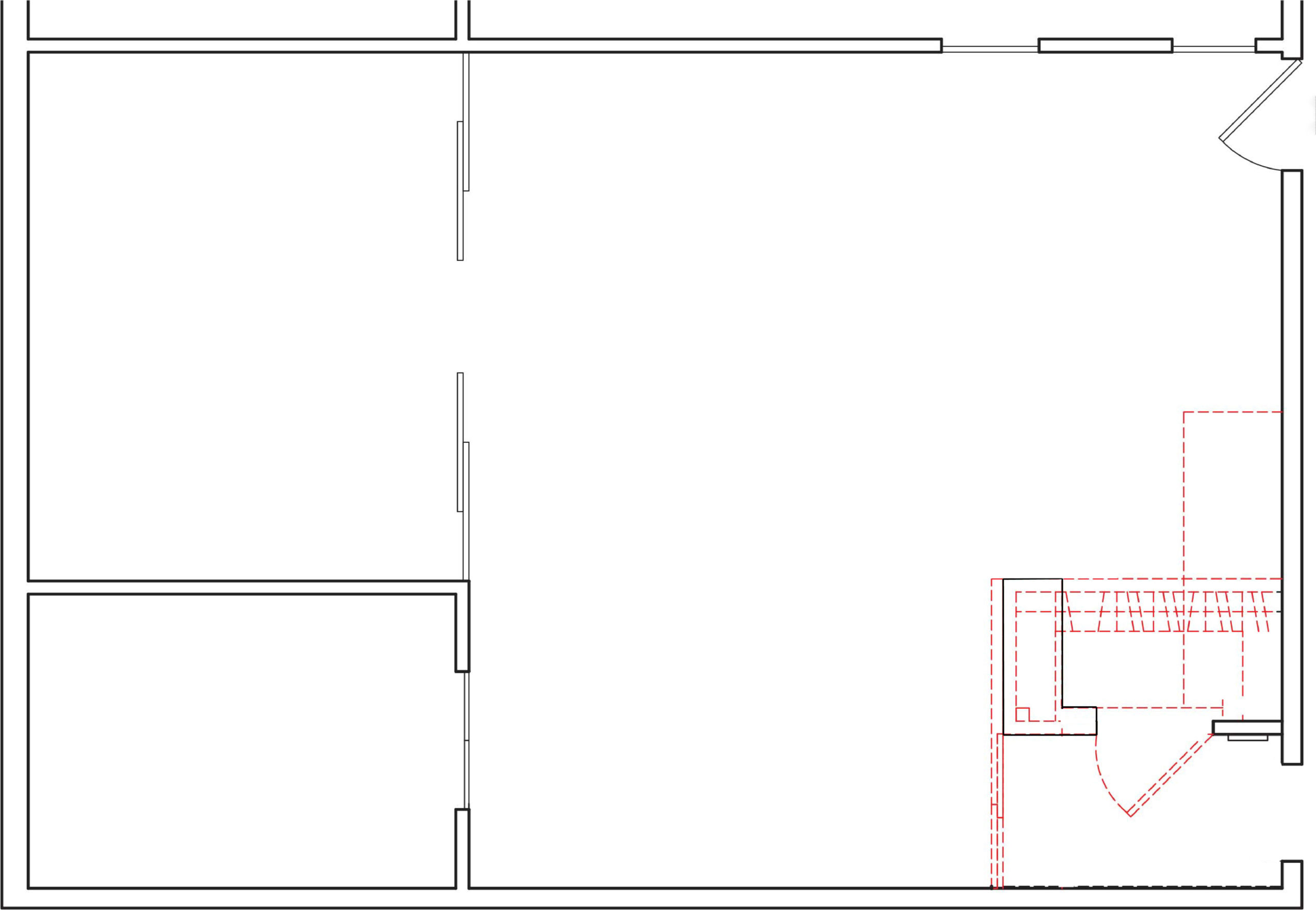 Before and after plans to maximise space in NYC apartment with the double wall design solution