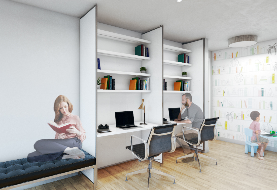 Maximise space in New York apartment with a multi-use wall design solution