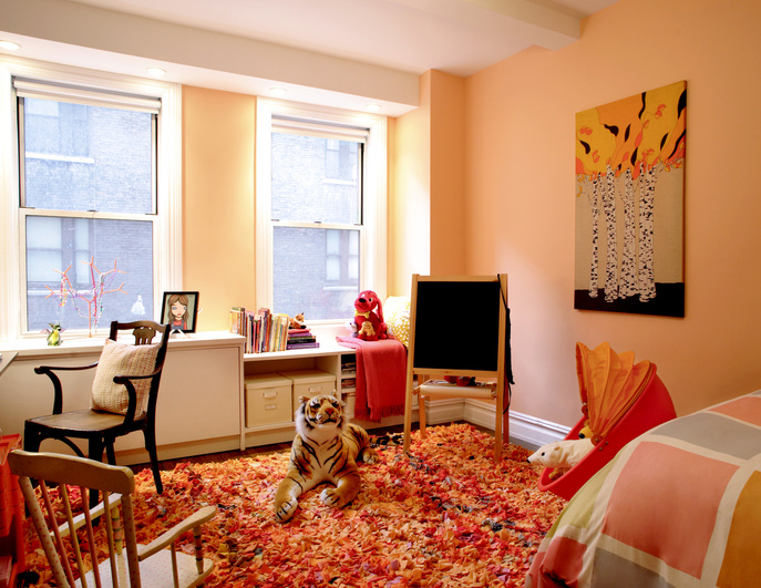 Childs bedroom in renovation to combine two apartments in Manhattan
