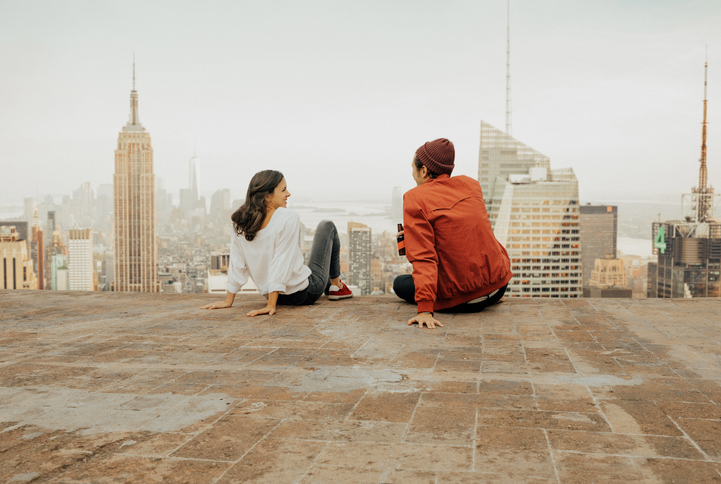 Create a rooftop space in Manhattan in response to Covid