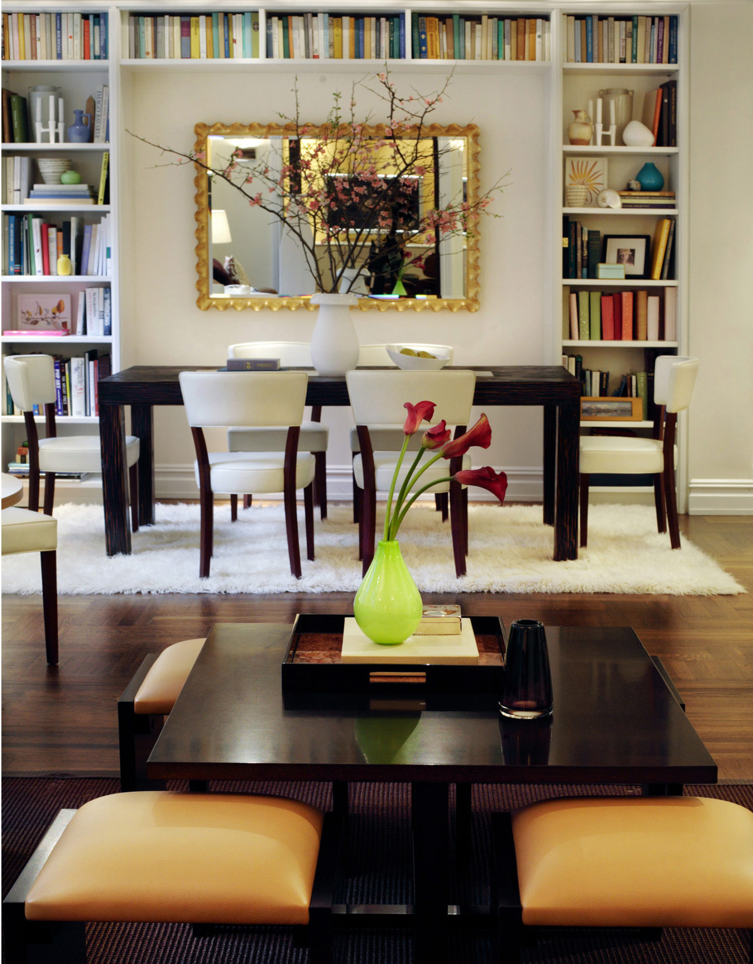 Create a living and dining area by combining two apartments to maximise space