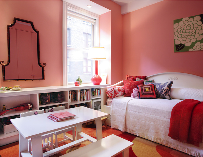 Spacious third bedroom after combining two apartments in Soho, New York