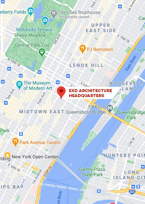 EXD Architecture New York City map