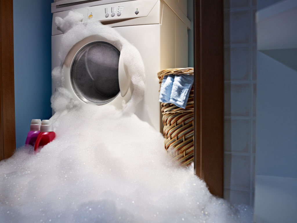 Washing machine leaks can damage the floor of an apartment