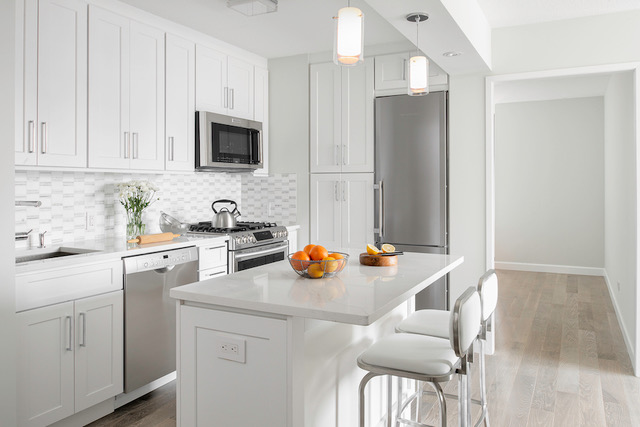 Repurpose of a kitchen in New York apartment by EXD Architecture