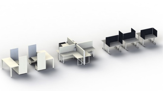 Plug and play furniture for a post covid office
